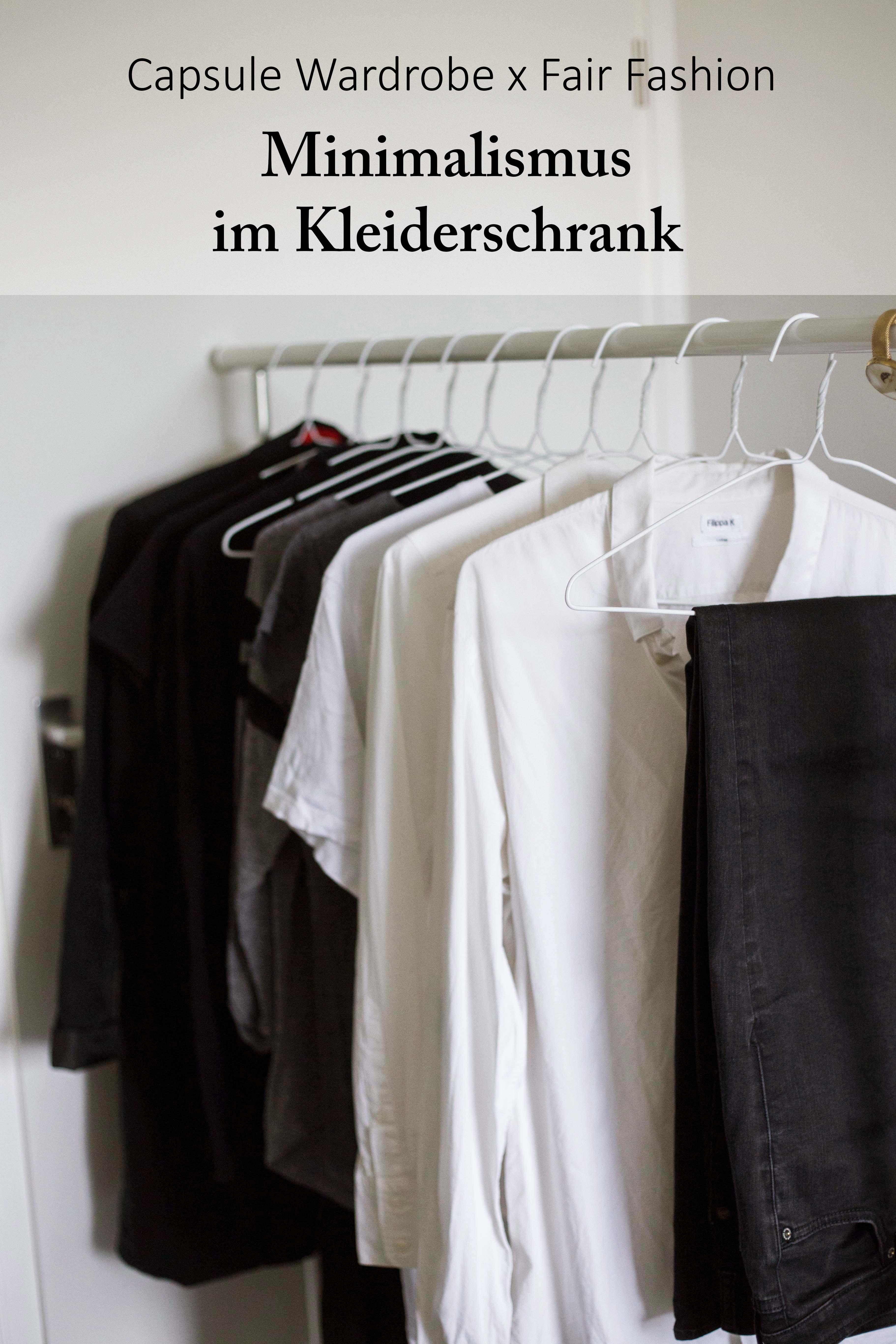 Minimalismus im kleiderschrank capsule wardrobe x fair for Minimalismus blog kleidung