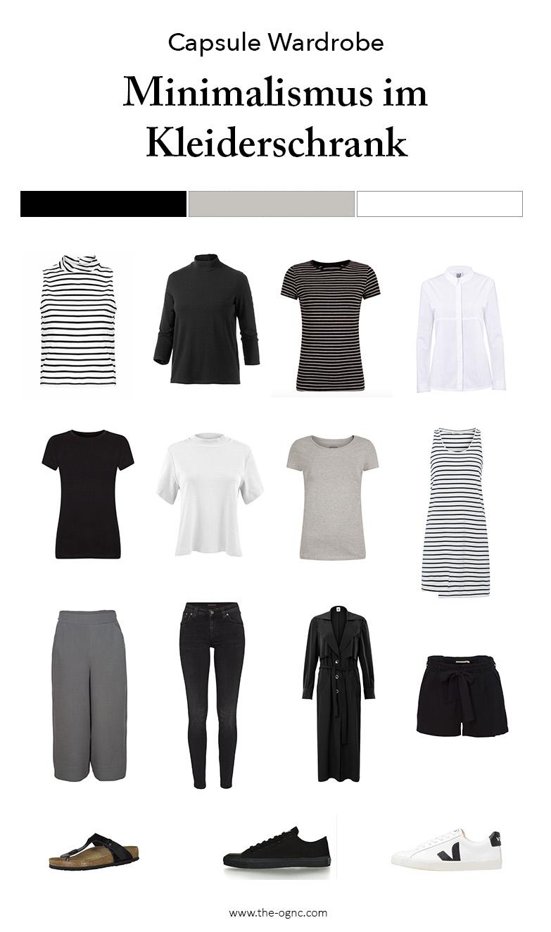 Capsule Wardrobe minimal, Minimalist Garderobe, Kleiderschrank-Experiment, Minimalismus