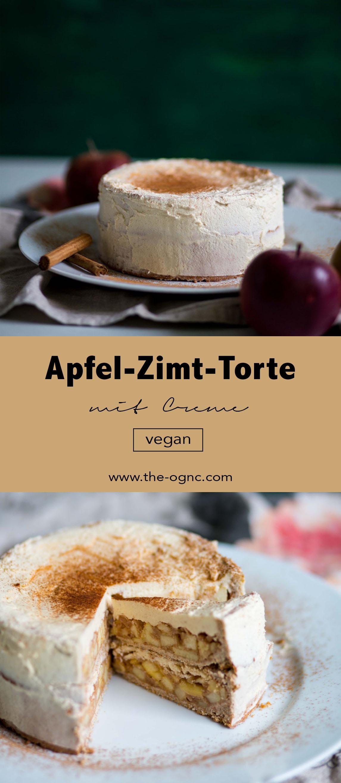 Vegane Apfel-Zimt-Torte