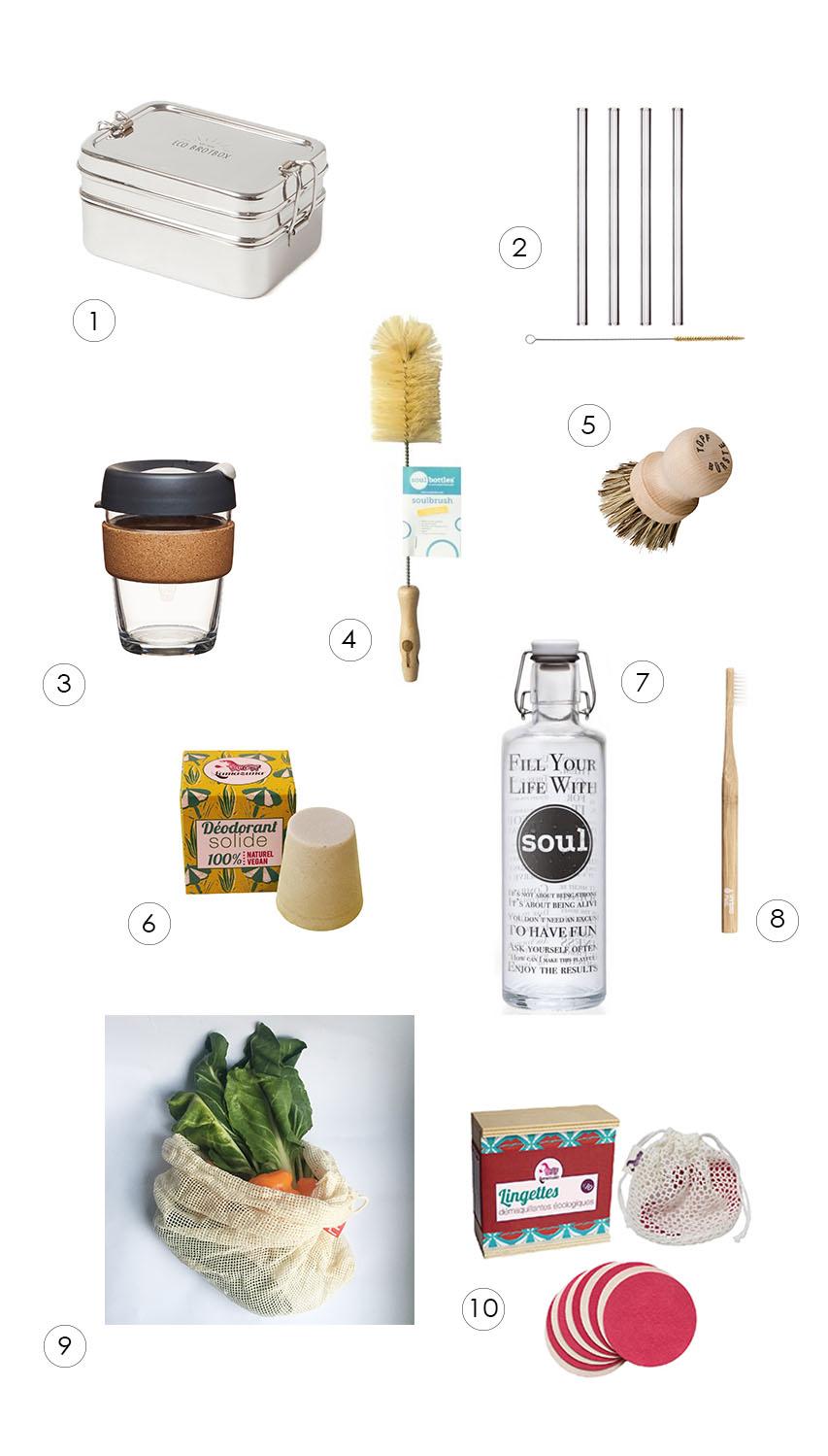 Produkte für Zero Waste