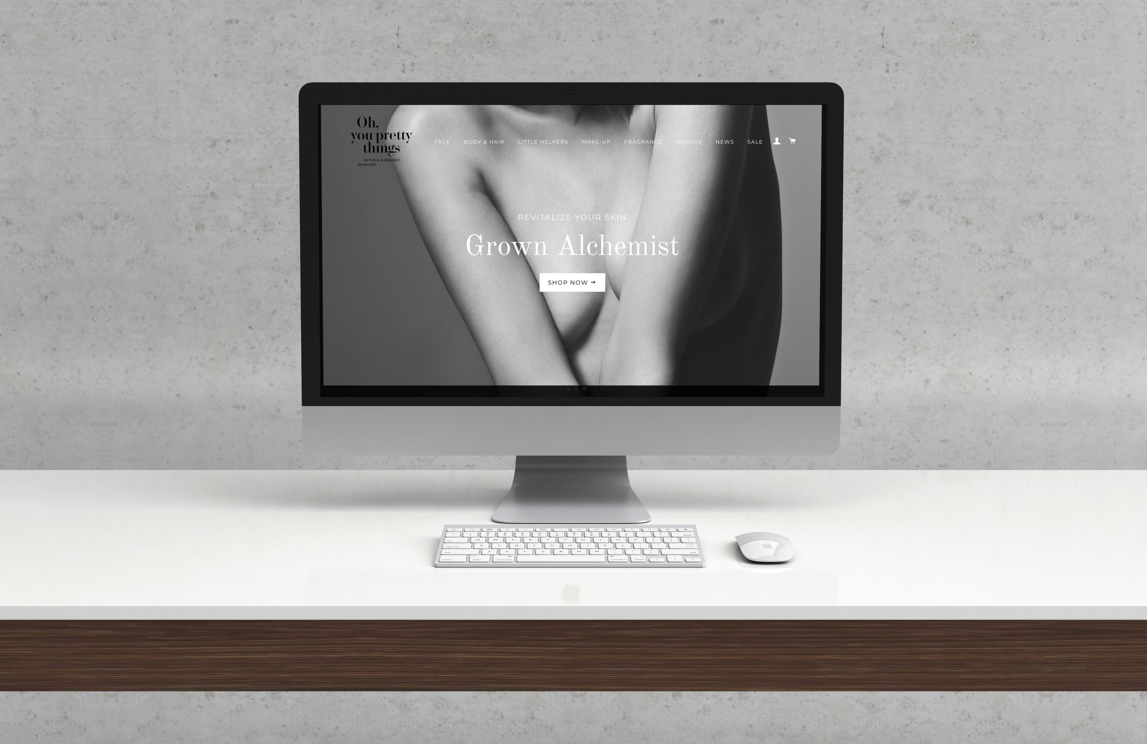 Naturkosmetik Online Shop clean minimal