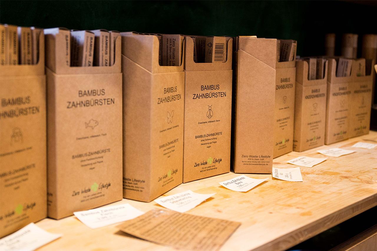 Bambuszahnbürsten, Zero Waste, Verpackungsfrei einkaufen