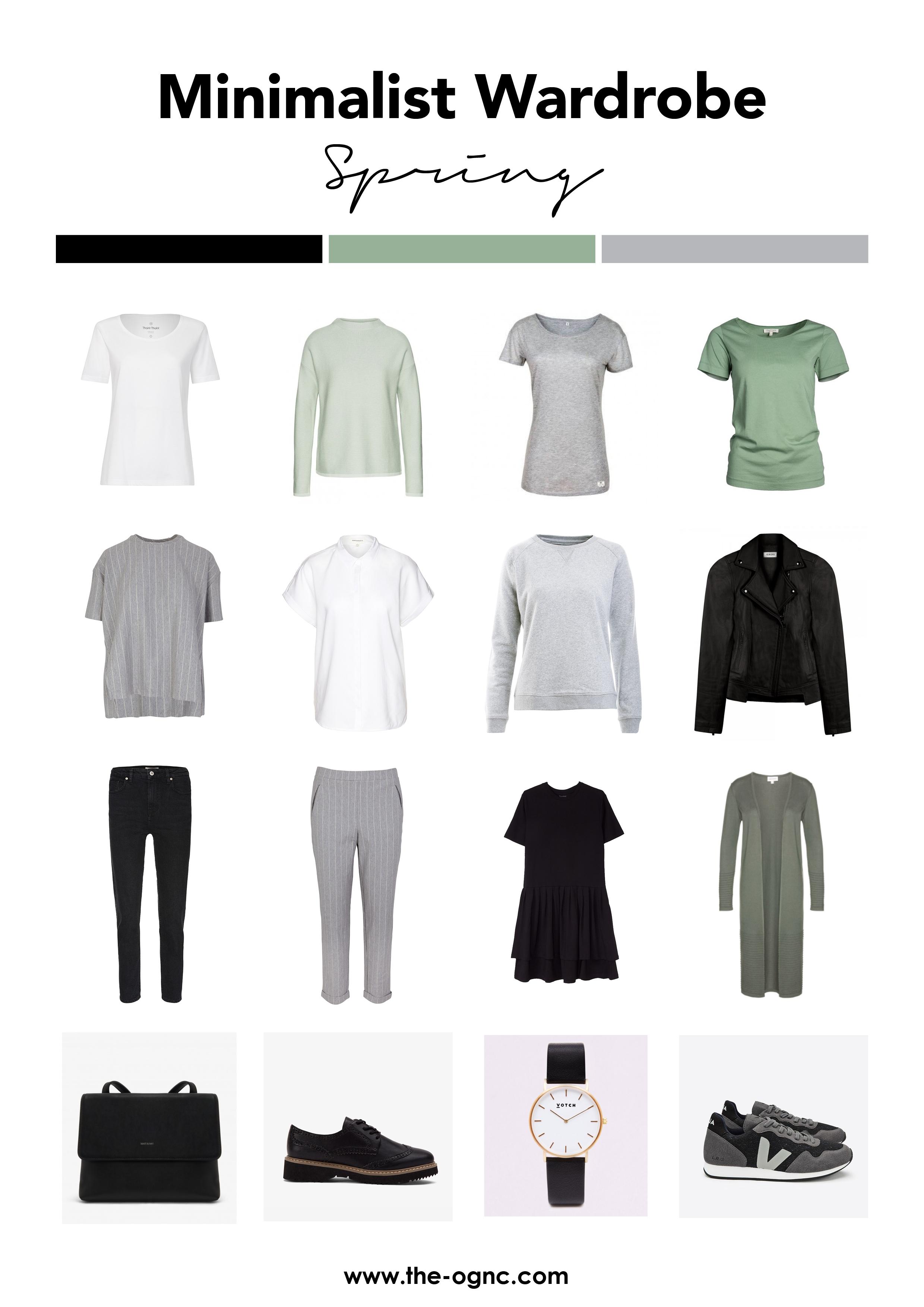 Minimalistische Garderobe Frühling