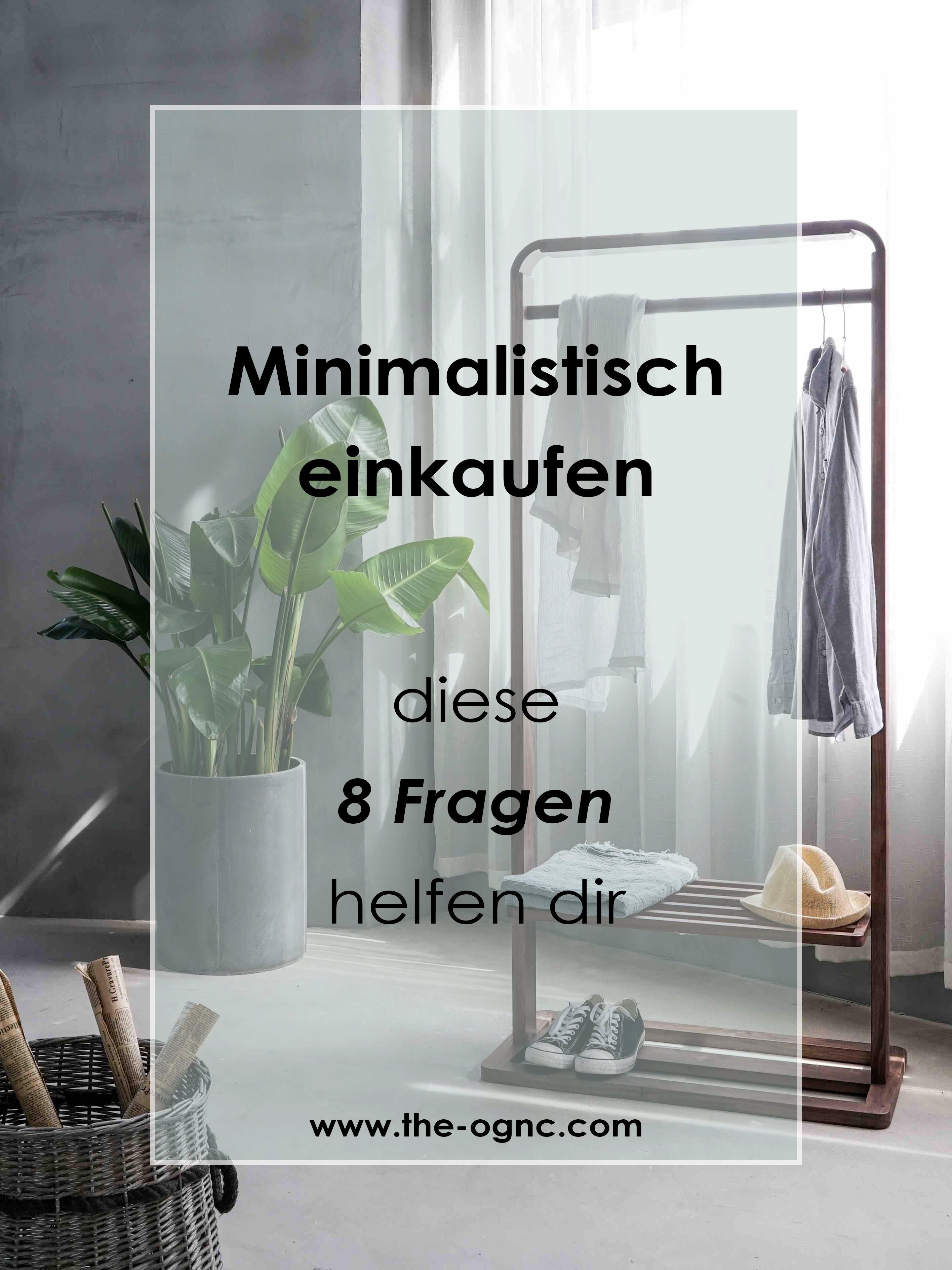 Minimalistisch einkaufen