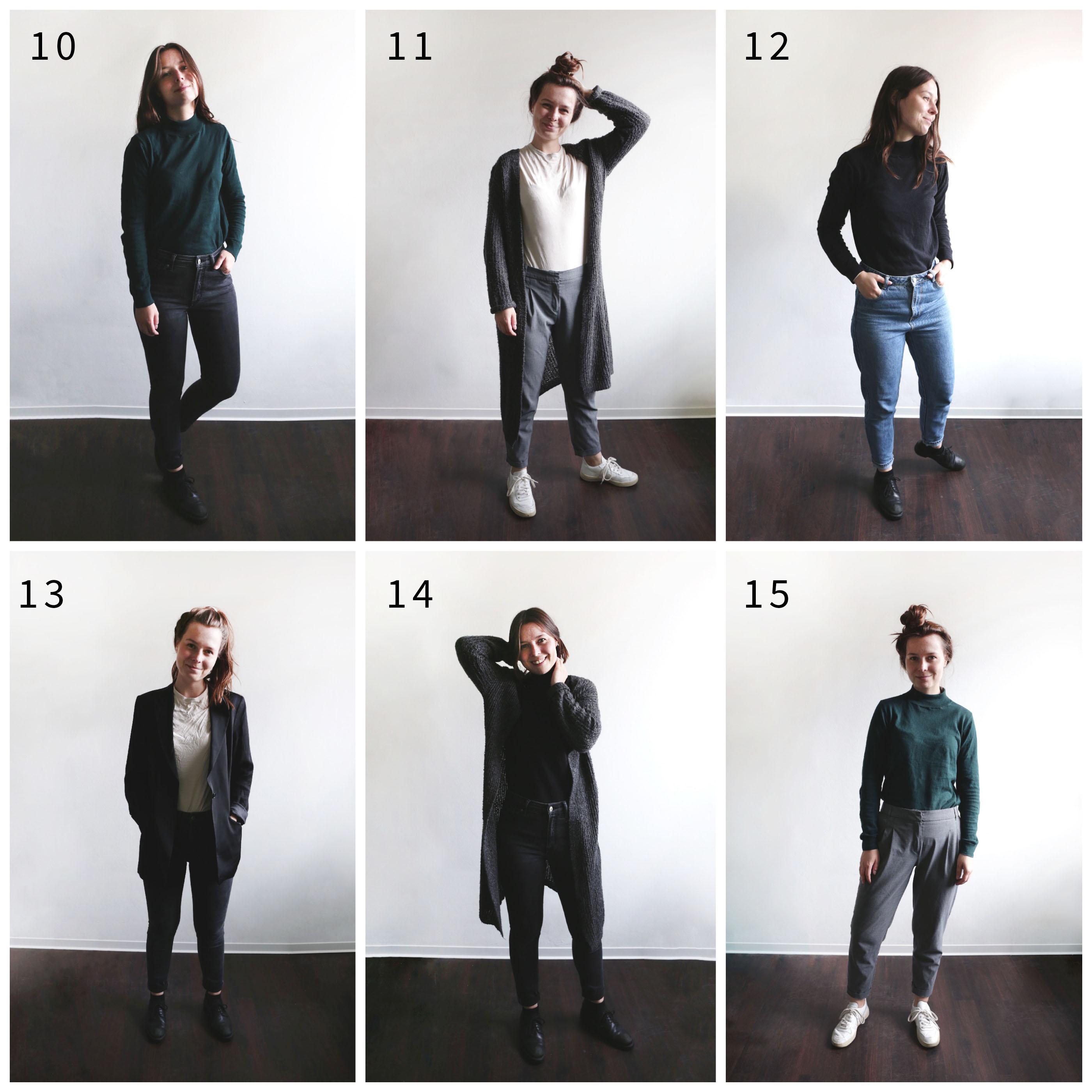 Capsule Wardrobe Herbst: 15 Teile - 15 Outfits