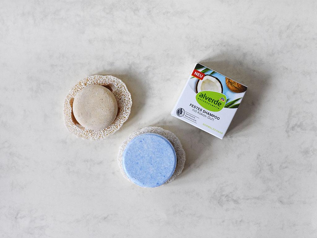 Festes Shampoo: Alverde Anwendung