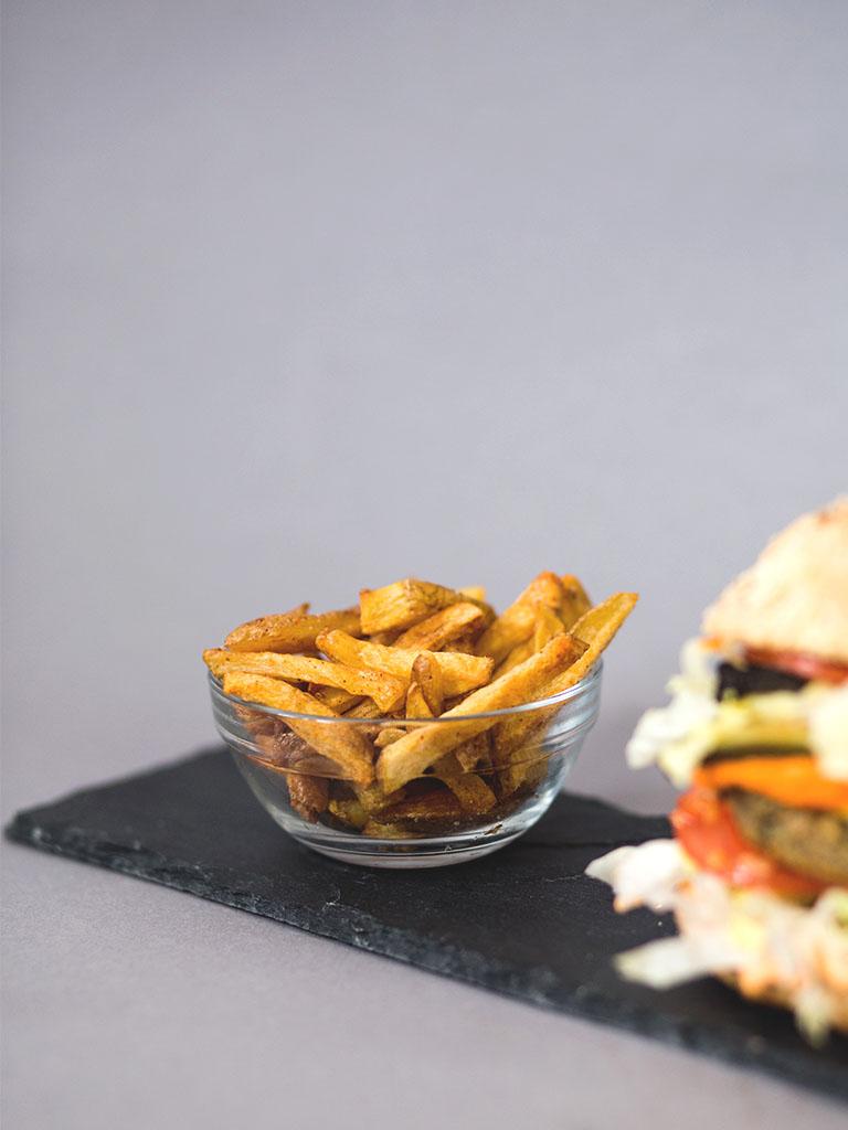 veganer burger: resteessen