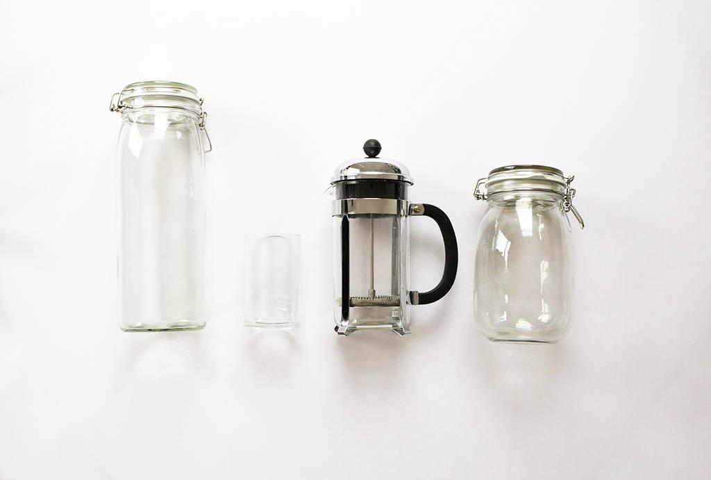 Zero Waste Kueche: plastikfreie Utensilien aus Glas