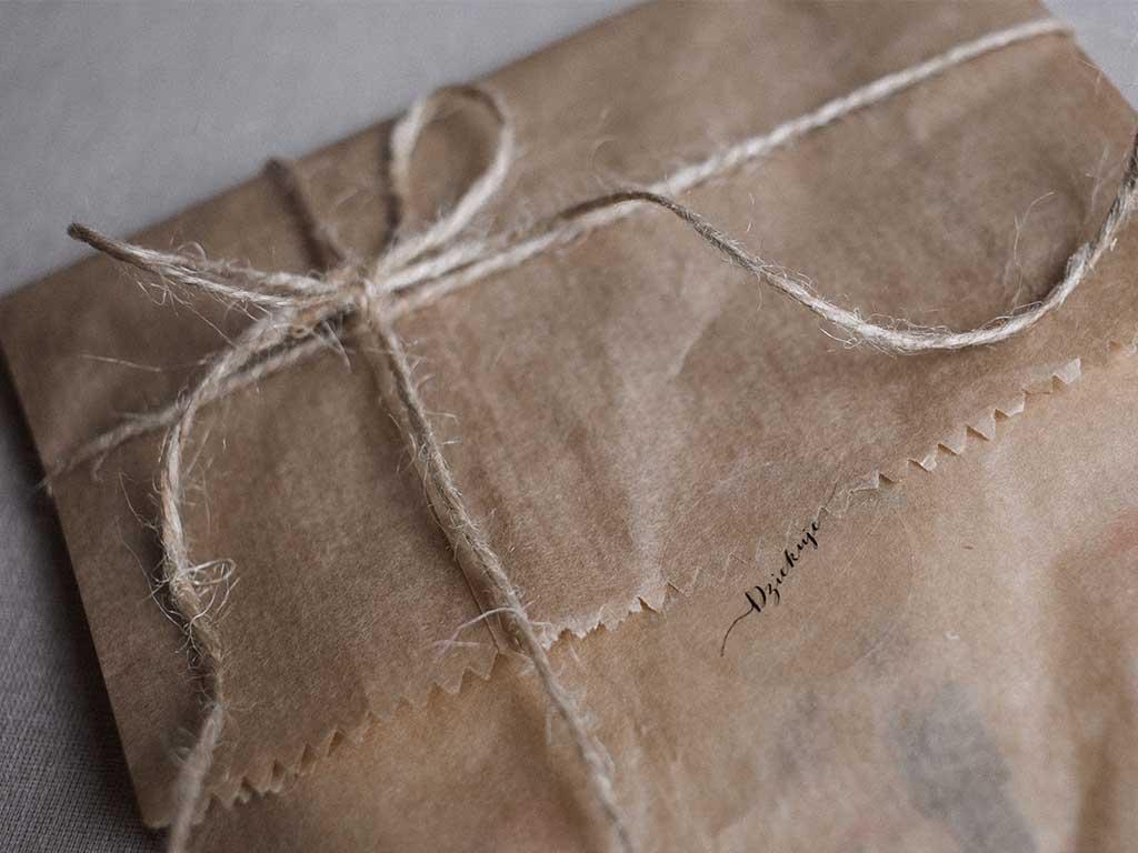 Backpapier als Geschenkpapier