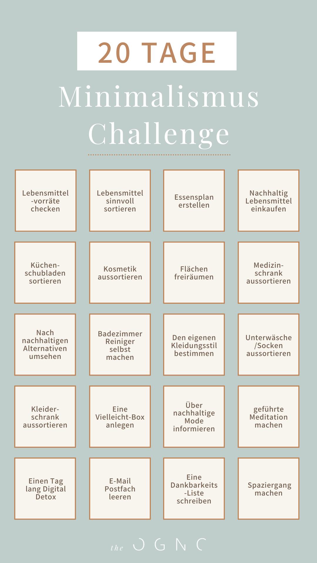 In 20 Tagen zum Minimalismus: die Challenge
